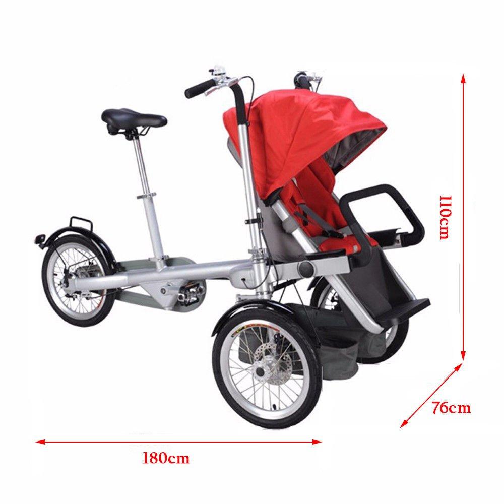 Amazon.com: Tdogs Cochecito de bebé, triciclos para niños de ...