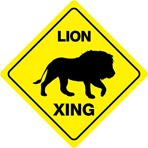 """12/""""x12/"""" plastic funny Leopard sign xing Crossings animal wild Novelty"""