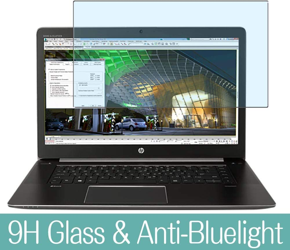 """Synvy Anti Blue Light Tempered Glass Screen Protector for HP ZBook Studio G3 15.6"""" Visible Area 9H Protective Screen Film Protectors"""