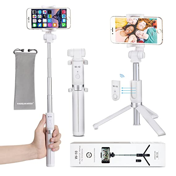 meet 5ef06 26f8f Selfie Stick Tripod with Remote Bluetooth - VANZAVANZU 2018 New Best Selfie  Stick Monopod Tripod for iPhone X 8 6 6s 7 Plus Samsung s7 Edge, Podcast,  ...