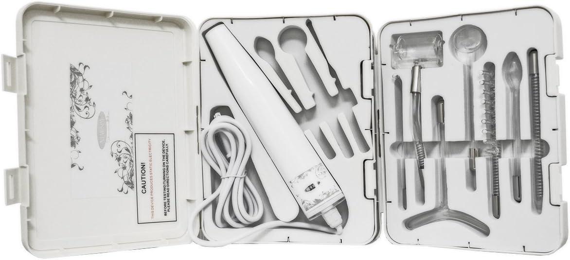 Professional Grade Portable High Frequency D arsonval Facial Device electrodes 7pcs Neon 3pcs Argon