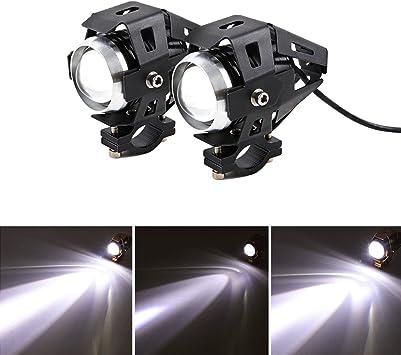 Universal-Motorrad-Scheinwerferlicht LED Nebelleuchte f/ür Auto LKW Boot 1 Paar