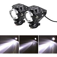 2 piezas Faros Delanteros de Motocicleta LED U5