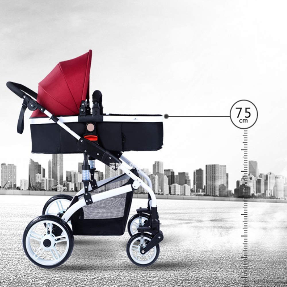 Amazon.com : Pushchairs Baby, High Landscape Stroller, Can ...