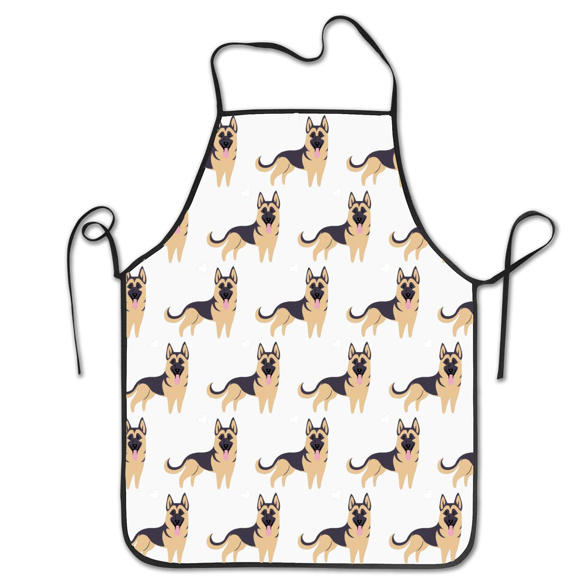 OKAYDECOR Waist Adjustable Professional Apron Kitchen German Shepherd Dog Heart Cute Pattern Aprons Comfortable Perfect for Cooking Guide
