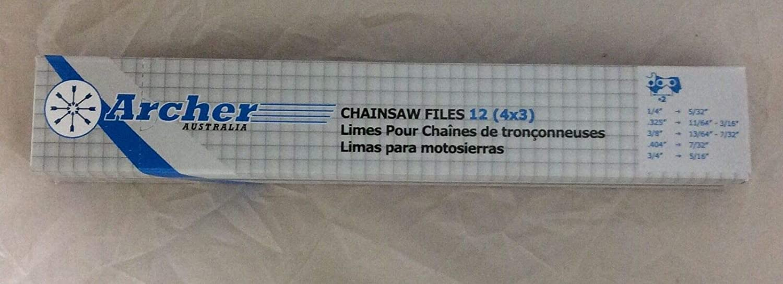 "12 CHAINSAW FILES 3//16/"" FOR SHARPENING ALL BRANDS CHAINS SAW SHARPENER DOZEN"