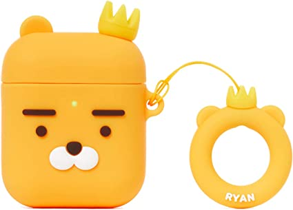 Kakao Friends Official Airpod Case Key ring Siliicon Skin Cover Little Ryan