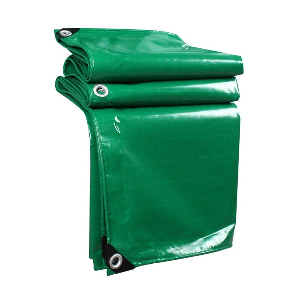 LQQGXL Grün gepolsterte Wasserdichte und regendichte Sonnenschutzplane LKW-Plane im Freien Sonnenschutz staubdicht Winddicht Hochtemperatur-Anti-Aging Wasserdichte Plane