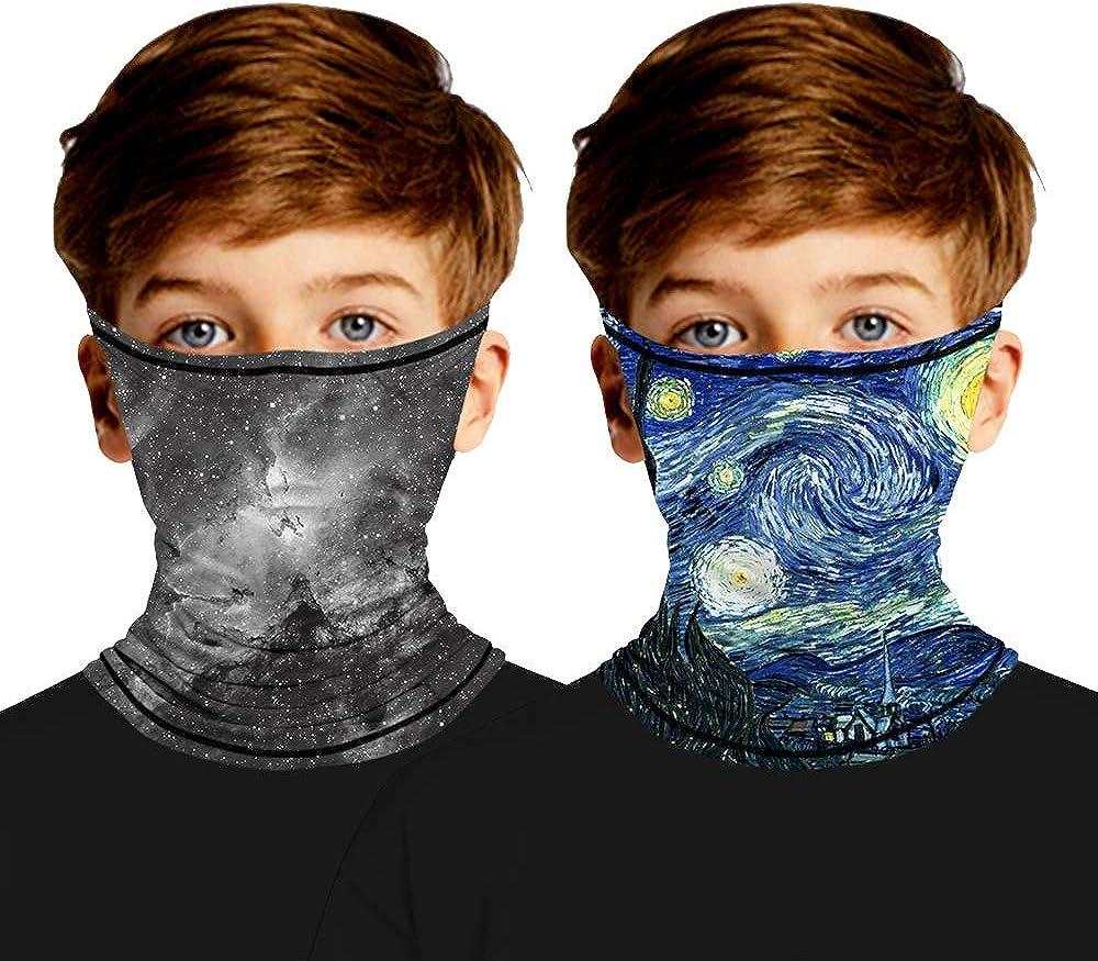 Amazon.com: 2pcs Kids Dustproof Face Masks Neck Gaiter Ear Loops Hangers  Collar Bandanas Balaclavas: Clothing