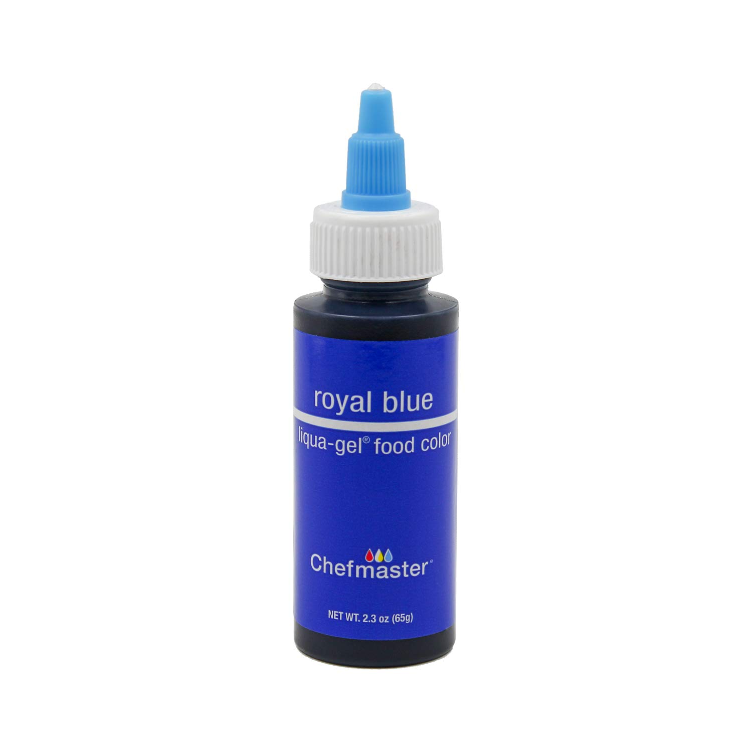 Chefmaster Liqua-Gel Food Color 2.3 oz. - Royal Blue