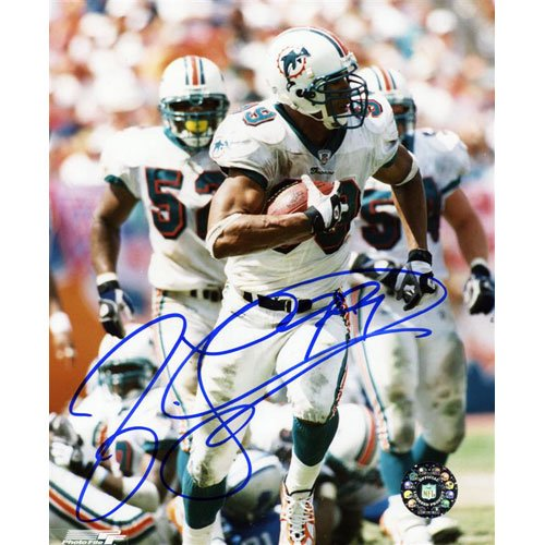 Jason Taylor Autographed Miami Dolphins (INT Return) 8x10 - Miami Int