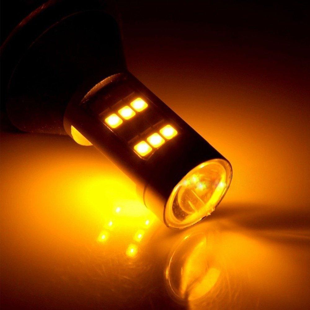 Pack of 2 KaTur T20 7440 7440NA 7441 992 White//Amber Switchback LED Turn Signal Light Canbus Error Free 2835 42SMD 800Lumens 12V LED with 50W 6ohm Load Resistors