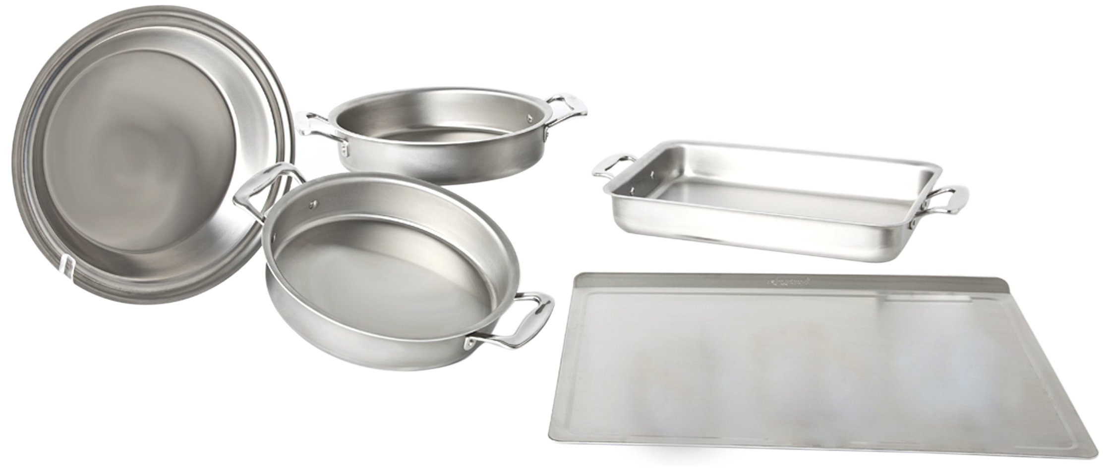 360 Cookware Premium Stainless Steel 5 Piece Bakeware Set by 360 Bakeware