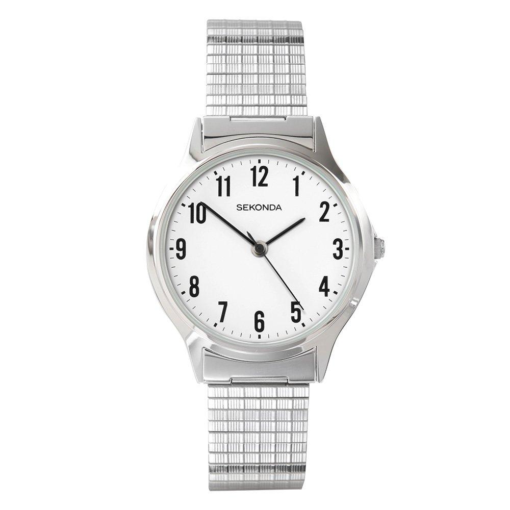 Sekonda 3751.27 - Reloj analógico de Cuarzo para Hombre con Correa de Acero Inoxidable, Color Plateado