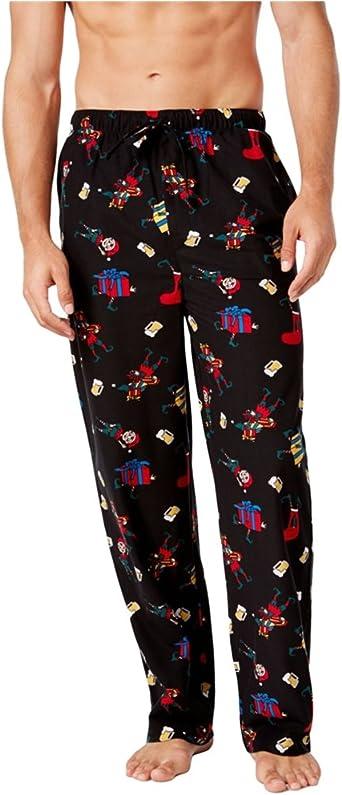 Club Room Mens Elf Print Pajama Lounge Pants black XL//31