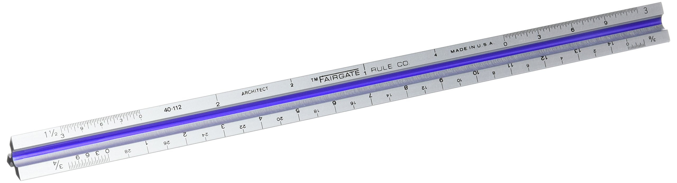 Aluminum Triangular Architect Scale, 12'' by Fairgate