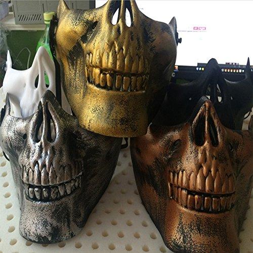 Abbyfrank 4 stks Halloween Cosplay Maskers Half Gezicht Bescherming Maskerade CS Battle Game Outdoor Veld Schedel Masker Accessoires -