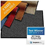 casa pura Premium Entry Mat | Entrance Mat Comparison Test Score: Very Good (A-/1.3) | Ideal as Front Door Mat or Entry Rug | Charcoal Gray - 24' x 36'