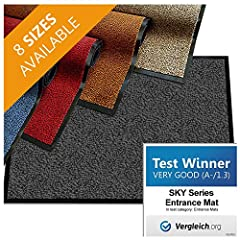 casa pura Premium Entrance Floor Mat - the No. 1 dirt trapping solution for stopping dirt, mud, and wet before it reaches your floor.  These premium quality front door mats come with an absorbent soft polypropylene pile that catches wet, dry ...