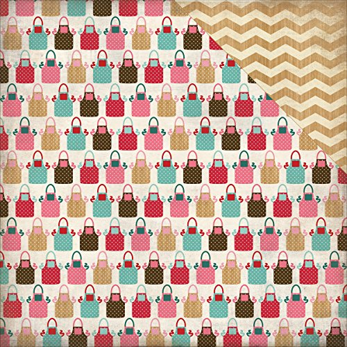 Echo Park Paper CBHSH47008 Home Sweet Home Double-Sided Cardstock (25 Sheets Per Pack), 12 x 12, Handmade Aprons, Assorted