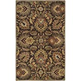Surya Caesar CAE-1028 Classic Hand Tufted 100% Wool Dark Chocolate 2'6'' x 8' Traditional Runner