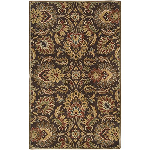 Surya Caesar CAE-1028 Classic Hand Tufted 100% Wool Dark Chocolate 2'6'' x 8' Traditional Runner by Surya