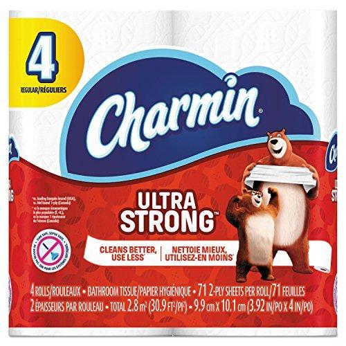 Charmin 94141CT Ultra Strong Bathroom Tissue,2-Ply,4x3.92,77 Per Roll,4 Rolls Per Pack (Case of 24 Packs) [並行輸入品] B07GSM2VBT