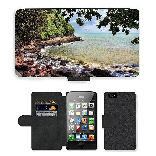 PU Leather Cover Custodia per // M00421631 Location eau Thaïlande Sea Nature // Apple iPhone 4 4S 4G