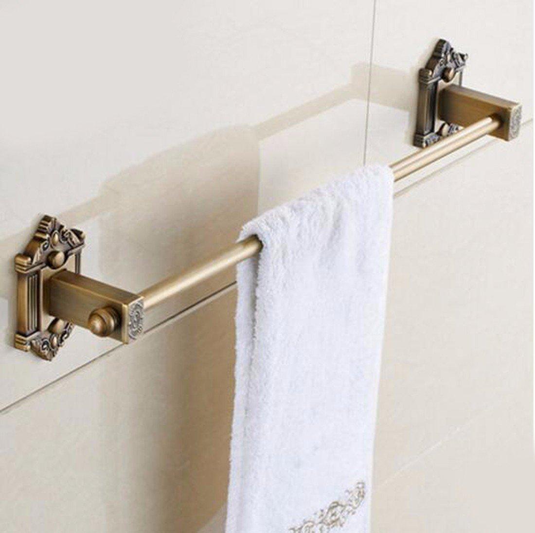 Sursy Jardín de estilo europeo puro cobre antiguo retro toalla toallero barra Barra de toalla de baño Guadan,accesorios de hardware: Amazon.es: Hogar