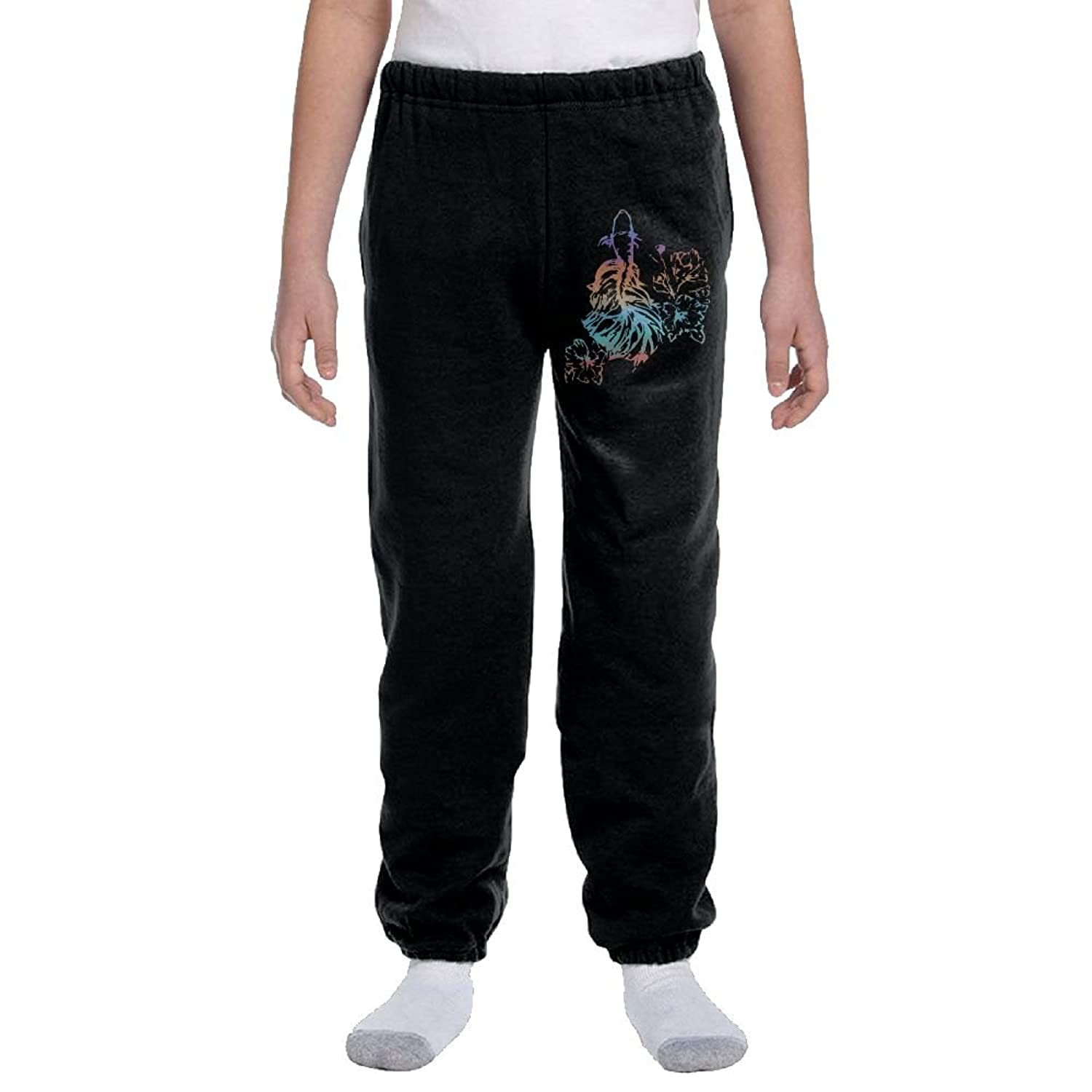 Sloth Playing Guitar Teenagers Cotton Sweatpants Casual Joggers Pants Active Pants