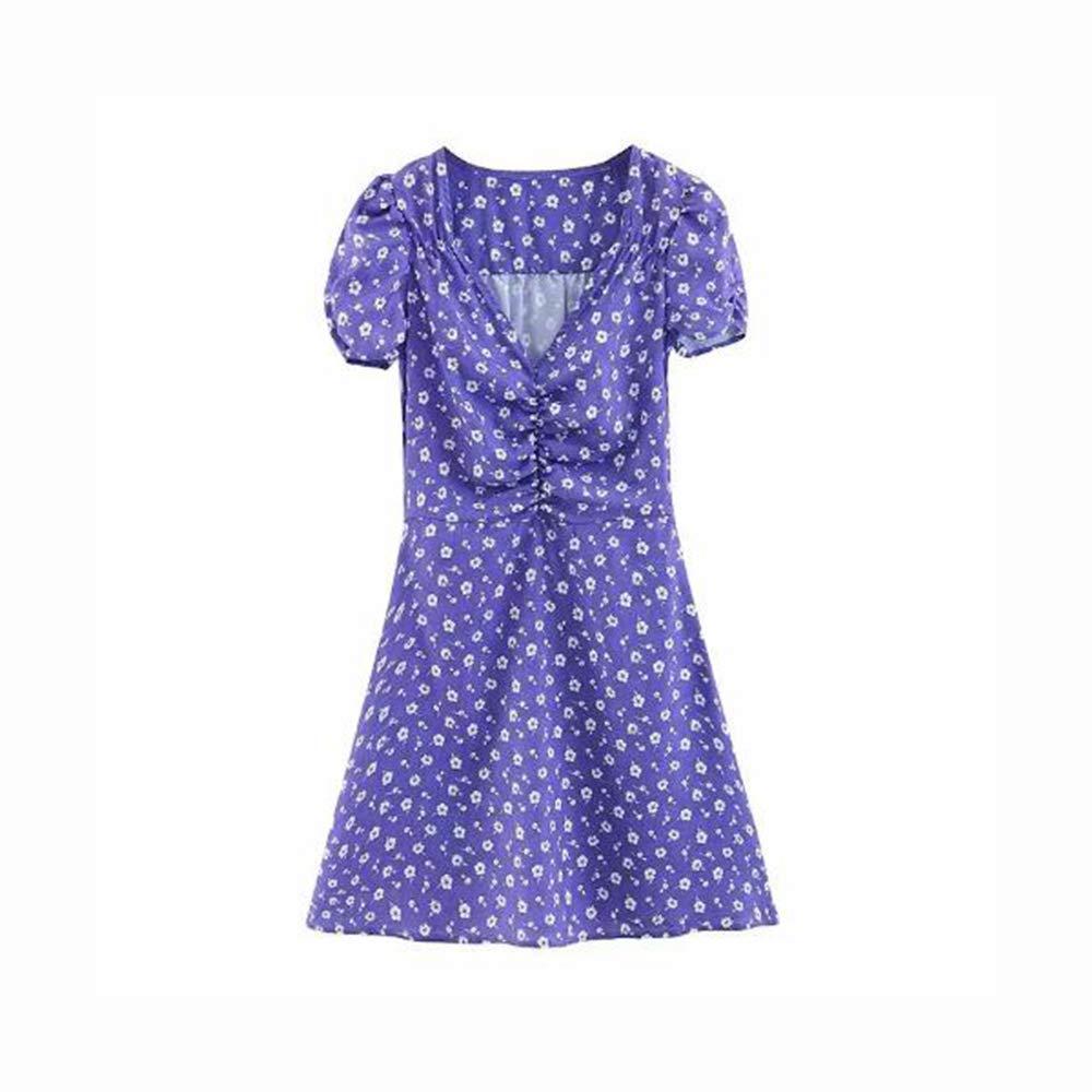 Guotail Kleid Floral Plissee Lampe Käfig Ärmel Quadratischer Kragen Kurzer Rock,lila,SB07QCMMVVPSandspielzeugQualität und Verbraucher an erster Stelle   Neues Produkt