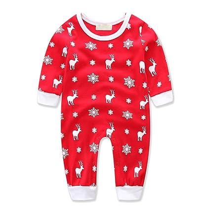 bornbay Navidad Pelele Baby Boy de Navidad Papá Noel Mono Niña Outfit Ropa 0 – 24