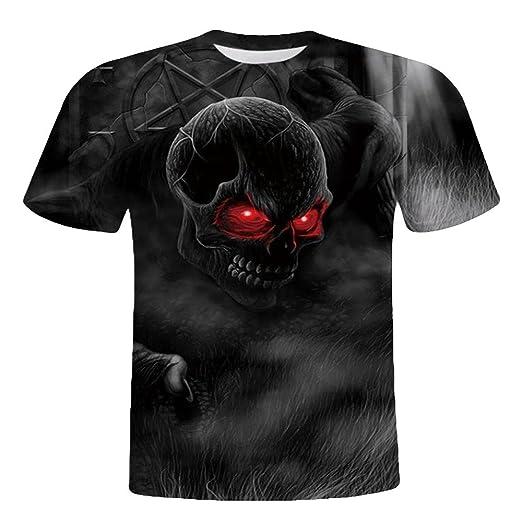 623a29e8462a Amazon.com  Newest Sale Men Shirt Skull 3D Printed Short Sleeve T-Shirt  Novelty Graphic Cool Funny T Shirts Comfy Tee T-Shirt Tshirt  Clothing