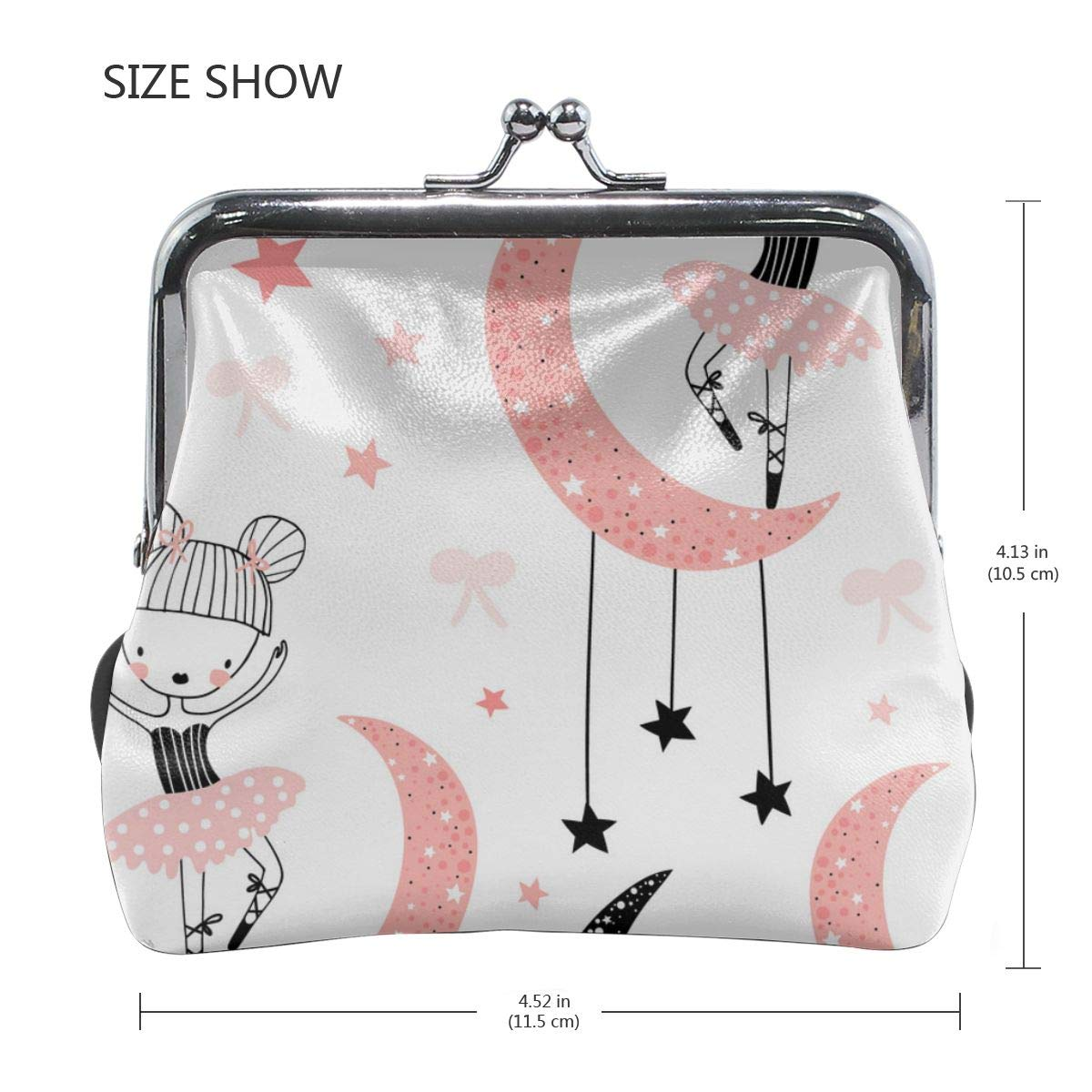 Personality Metal Lock Purse Architd Customized Cute Retro Coin Purse Girl Kiss And Buckle Change Purse Ladys HandbagCute Little Girl Dancing Ballet
