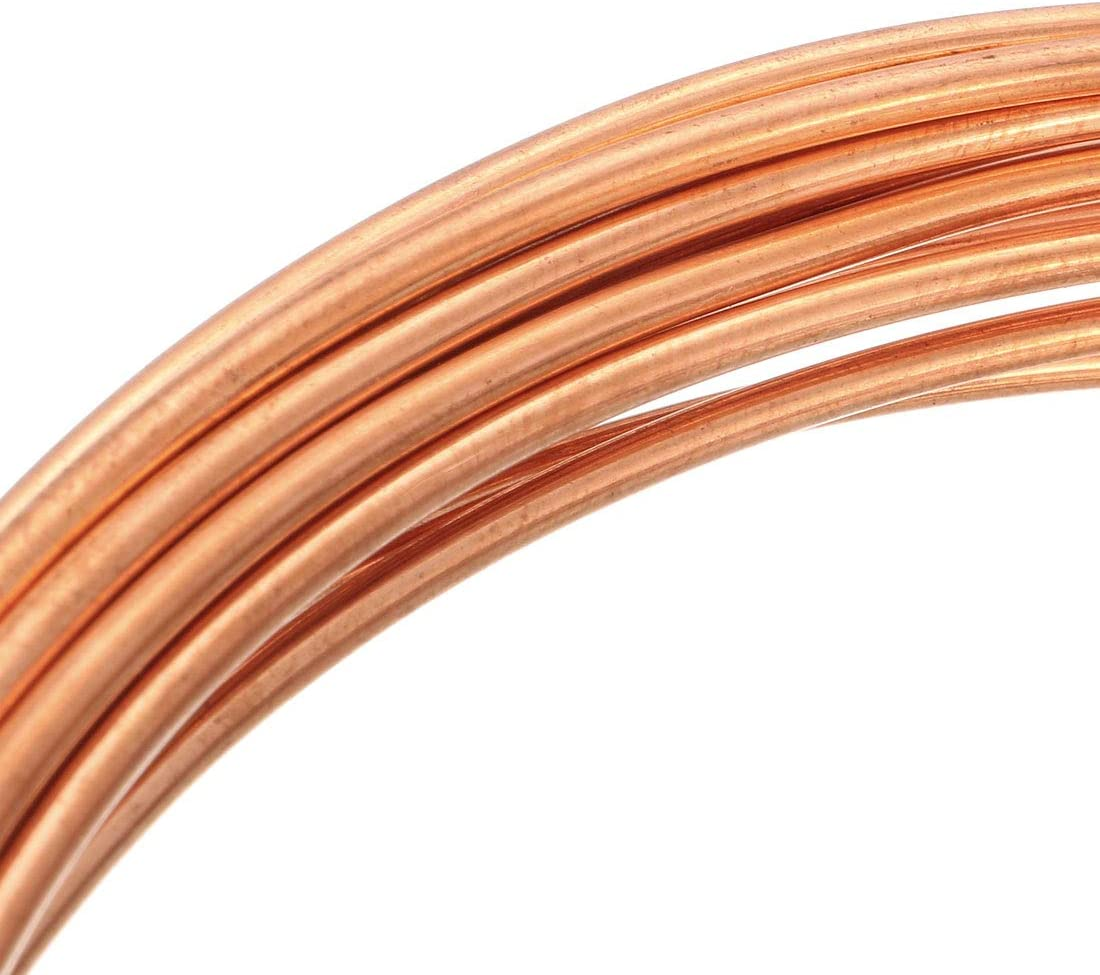 sourcing map Refrigeration Tubing 3mm OD x 2mm ID x 6.5 Ft Length Soft Coil Copper Tubing