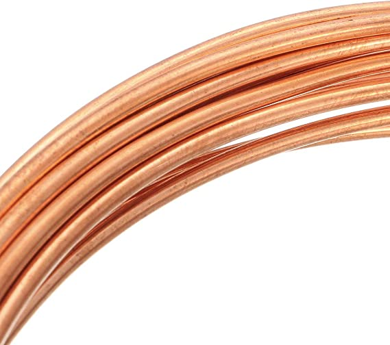 3//32 OD x 3//64 ID x 6.5 Ft Soft Coil Copper Tubing sourcing map Refrigeration Tubing