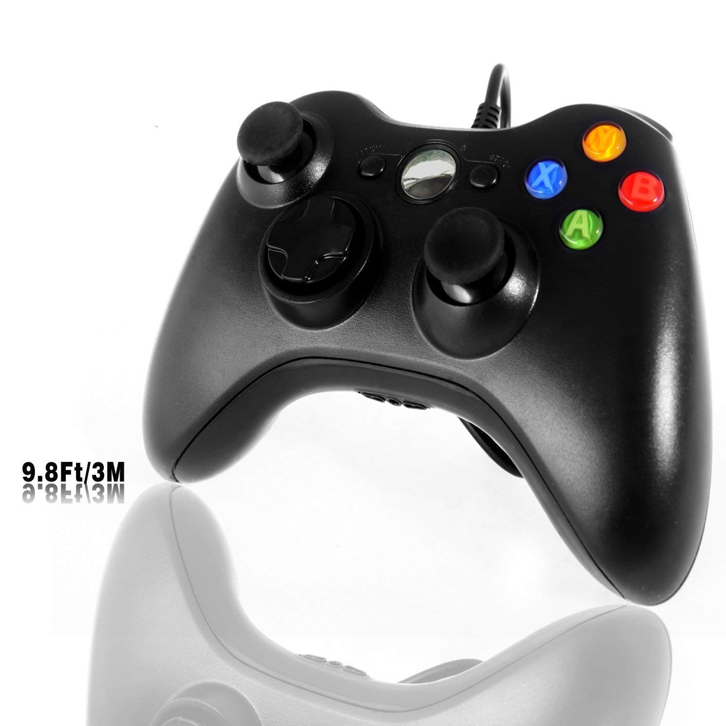 Xbox 360 Game Controller, WEIE USB Wired Gamepad with Cable for Xbox 360, Xbox 360 Slim, Windows PC (Windows XP, Vista, 7, 8, 8.1, 10)