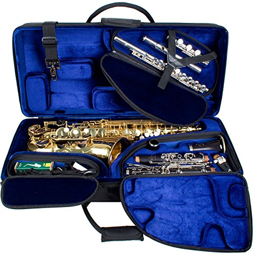 Protec PBTRIALT Alto Saxophone, Clarinet, Flute Combination TRI-PAC Case