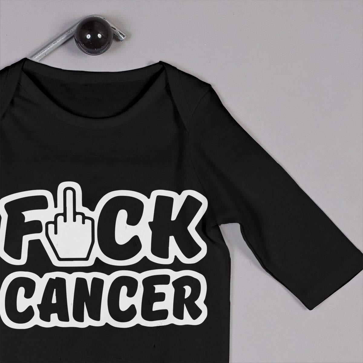 Fashion Fuck Cancer 1 Playsuit U99oi-9 Long Sleeve Cotton Bodysuit for Unisex Baby
