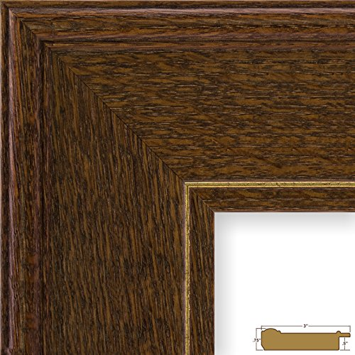 craig-frames-80781821-24-by-36-inch-picture-frame-wood-grain-finish-3-inch-wide-dark-brown