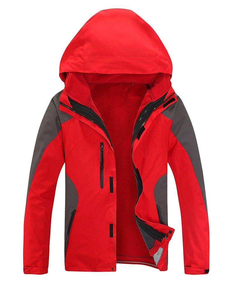 Chaqueta de montaña 3 en 1 Hombre Mujer Impermeable Chaqueta de senderismo A prueba de viento Ropa de deportes al aire libre con capucha