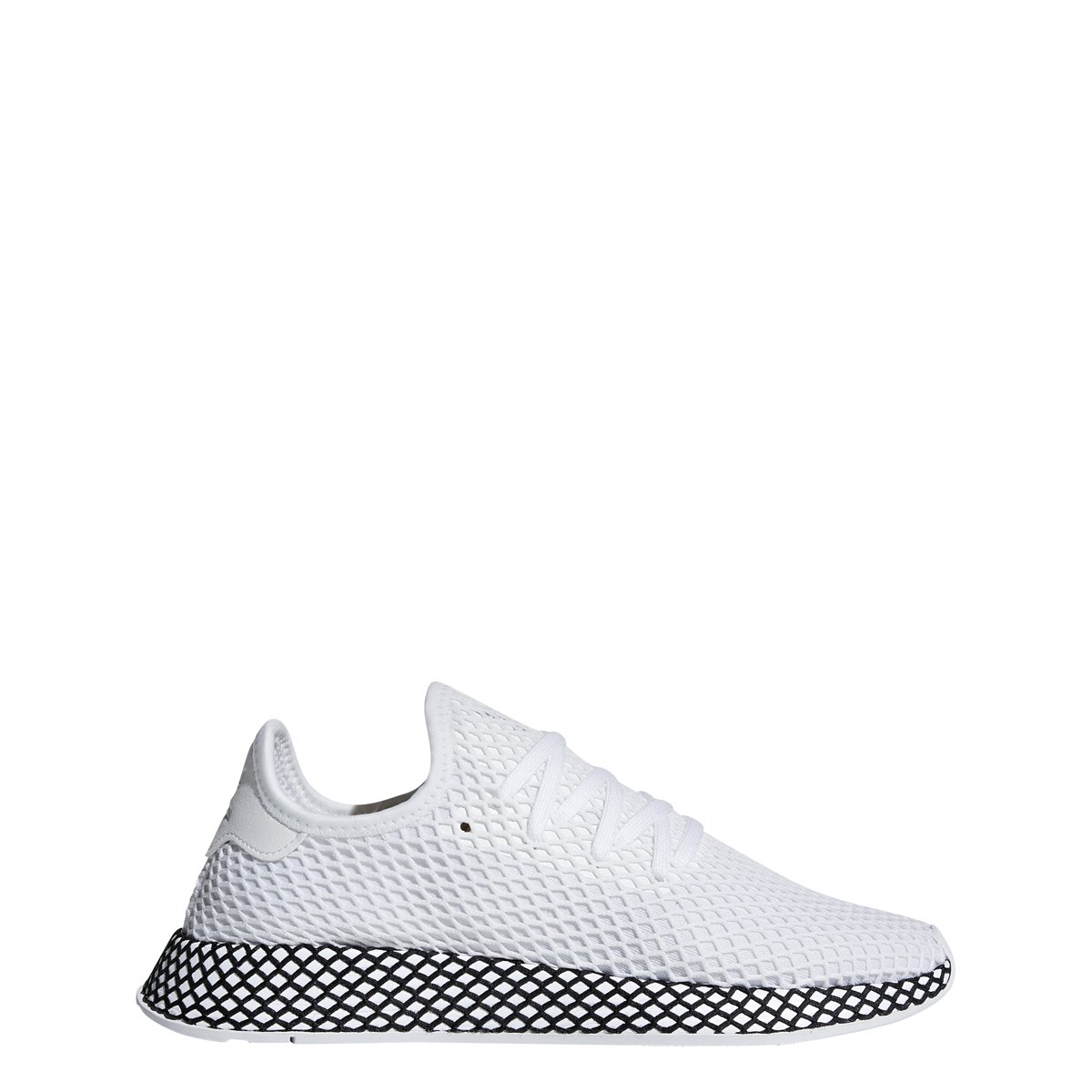 adidas Mens DEERUPT Runner White/White/Black - B41767 (10) by adidas