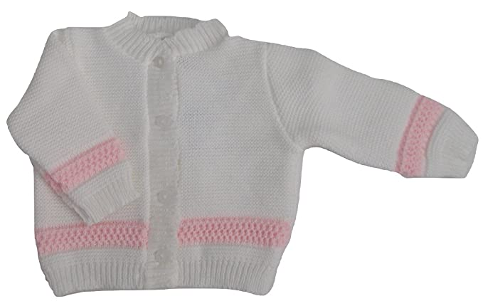 47797052316d Baby Infant Girls Summer Knitted Cardigan White with Pink (Newborn ...