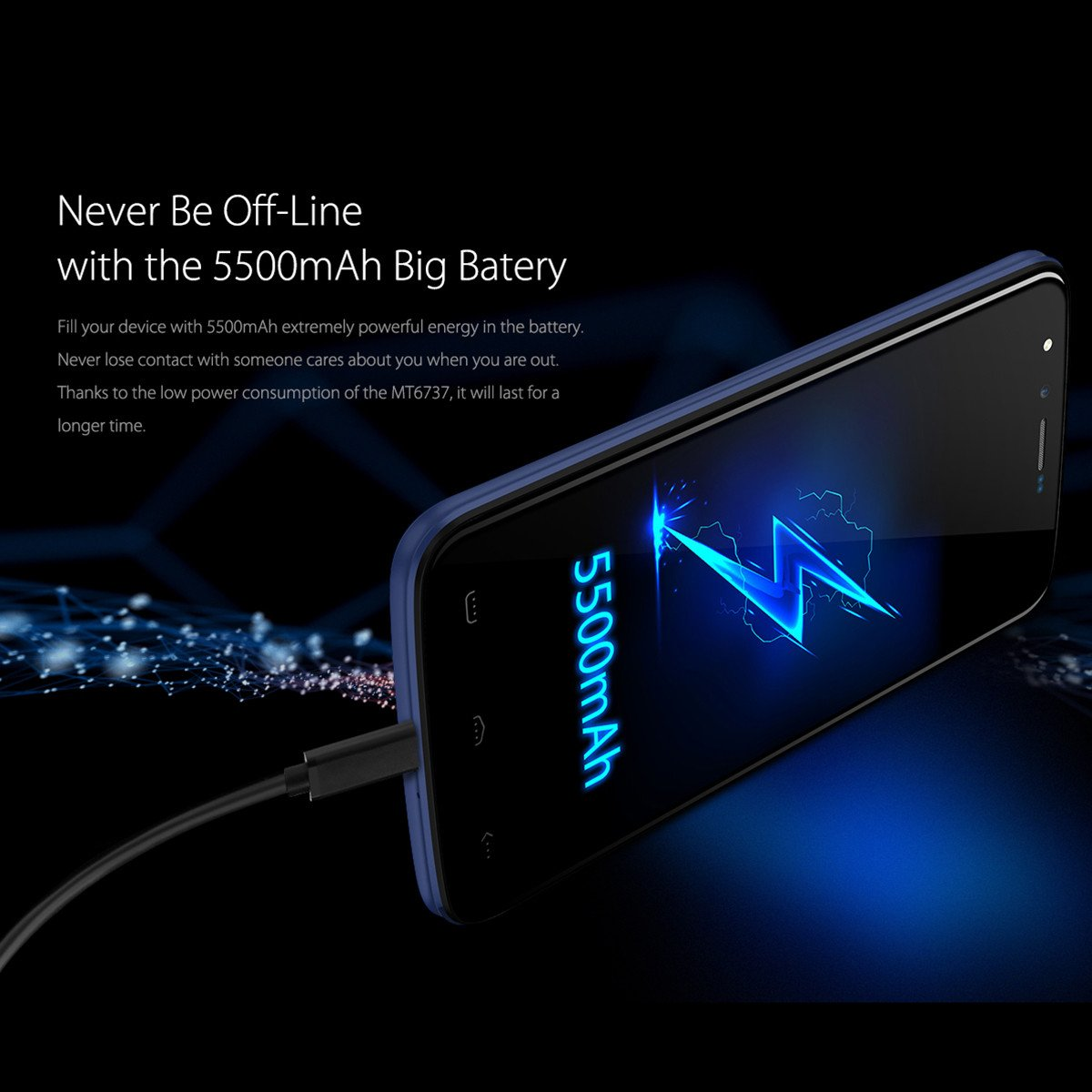 HOMTOM HT50 Smartphone, 5 5 Pollici HD IPS Display Android 7 0 4G Telefono  Cellulari, MTK6737 Quad Core 1 3GHz , 3GB RAM + 32GB ROM, 13MP Dual Camera,