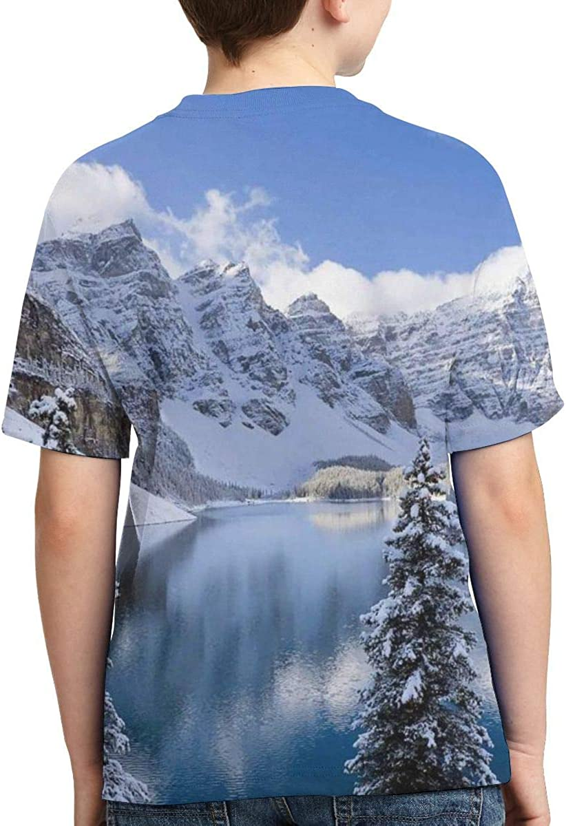 Cute Sweatshirt Vy32jg-2 Short Sleeve Mountains Lake Park Shirts for Children XS-XL
