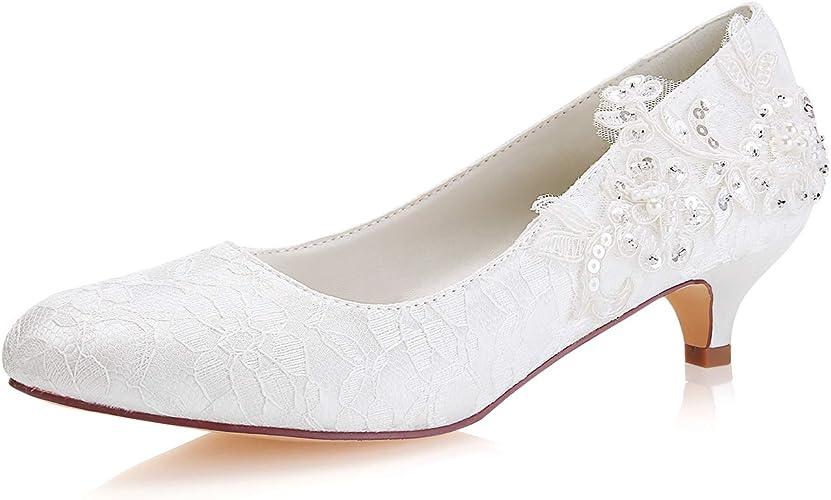 Scarpe Da Sposa Con Pizzo.Emily Bridal Scarpe Da Sposa In Pizzo Scarpe Da Sposa Con Punta