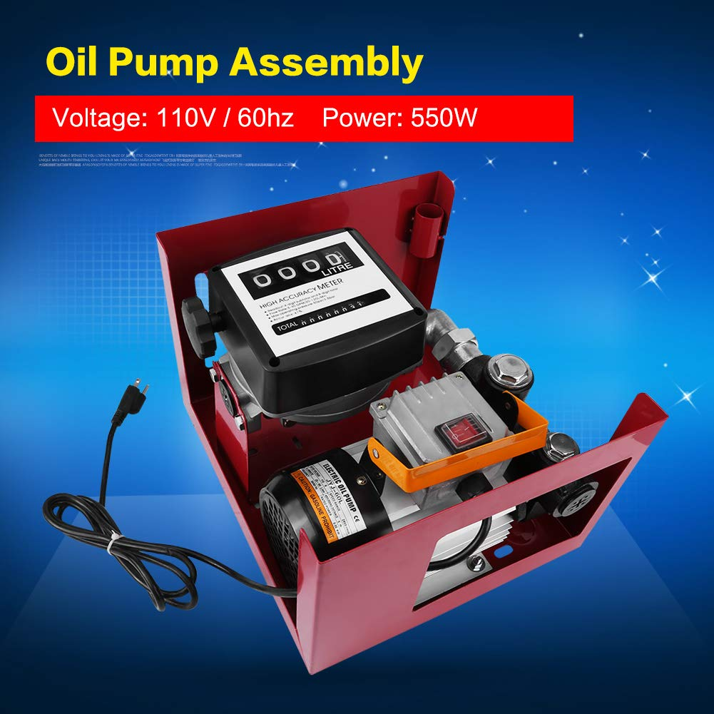 Bomba de Transferencia Diesel Aceite Combustible El/éctrico 230V 550W 60L por Minuto