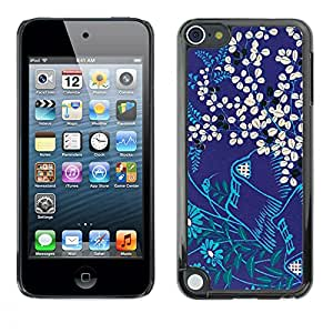 MOBMART Carcasa Funda Case Cover Armor Shell PARA Apple iPod Touch 5 - Royal Purple Background Of Floral