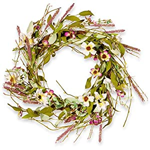 National Tree Company 22 in. Fabric Spring Wreath 10