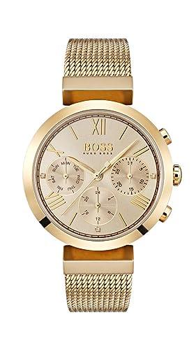 Hugo BOSS Reloj Analógico para Mujer de Cuarzo con Correa en Acero Inoxidable 1502425: Amazon.es: Relojes